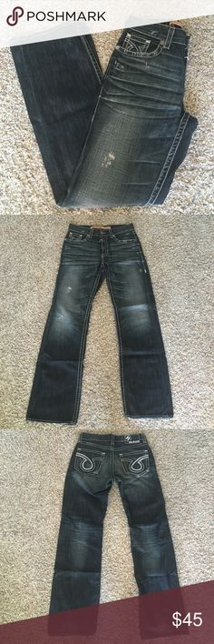 Big Star Pioneer Boot Cut Jeans size 32L Big Star Pioneer Dark Jeans size 32L. Lightly worn at hem. Amazing condition only worn a few times. Comes from a smoke free animal free home. Big Star Jeans Bootcut
