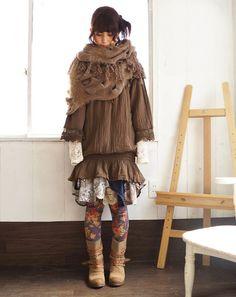 森ガール  Dat Scarf, mori girl fashion