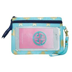 Simply Southern Collection Phone Wristlet in Gold Turtle Print PHONEWRISTLET-GOLDTURTLE