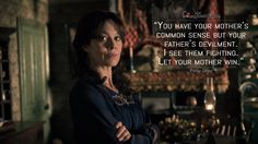 #PollyGray: You have your mother's common sense but your father's devilment. I see them fighting. Let your mother win.  More on: http://www.magicalquote.com/series/peaky-blinders/ #PeakyBlinders