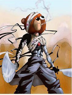 Jinno from Afro Samurai Afro Samurai, Samurai Tattoo, Samurai Art, Samurai Anime, Anime Fantasy, Fantasy Art, Character Art, Character Design, Character Reference