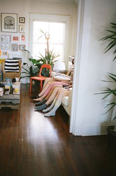 Mismatched furniture adds character.