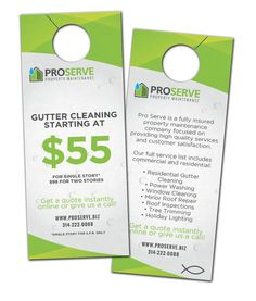Door Hangers Designed U0026 Printed For Pro Serve Property Management