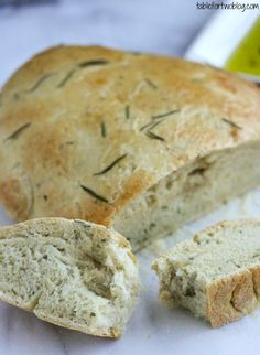 Rosemary Olive Oil Bread ~ I'll bet rosemary would be a good addition to my beer bread, and lots easier than making bread from scratch