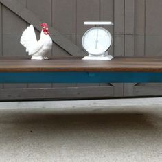 SOLD! - Drop Leaf Vintage Coffee Table, Painted Lagoon Blue from Julies Box for $125 on Square Market