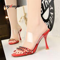 0d485b10b855 Dámské čerpadla Vysoké podpatky Sandály pro ženy Letní boty Svatební  podpatky Dámské vysoké podpatky Plus Velikost 34-40