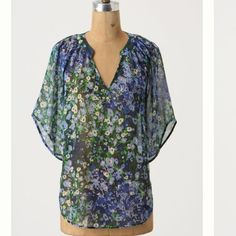 Anthro silk top See pic 3 in EUC no flaws Anthropologie Tops