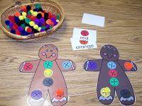 Color Bingo Gingerbread Boy Game