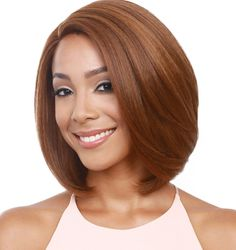 Bobbi Boss Synthetic Lace Front Wig - MLF123 Millie - Swiss Lace - Premium Synthetic Wig - Safe Heat Styling - Premium High Heat Fiber - Bobbi Boss lace front wigs give you the most natural hairline w