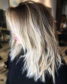 Choppy Blonde Lob for Straight Hair