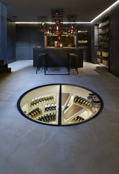 Spiral wine cellar 900x1317 Any Connoisseurs Dream: Modern Wine Cellar Designs