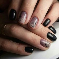 The Best Nail Art Designs – Your Beautiful Nails Trendy Nails, Cute Nails, Stylish Nails, Black Ombre Nails, Black Nail, Nailart, Manicure E Pedicure, Black Manicure, Manicure Ideas