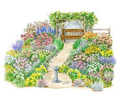garden plans featuring roses...