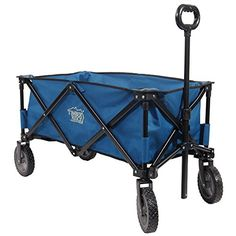 Outdoor Gardening Carts - TimberRidge Folding Camping Wagon Garden Cart Collapsible Blue * Check out the image by visiting the link. (This is an Amazon affiliate link)
