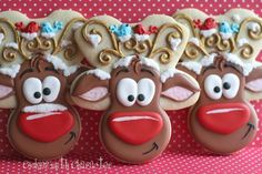 Whimsical Reindeer Cookies with Cookies with Character {Guest Post} Great tutorial!