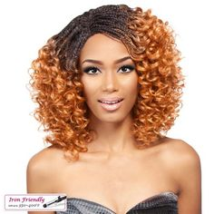 It's a Wig Lace Front Wig INVISIBLE BRAID CURLY