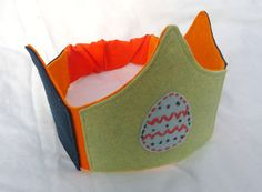 Sweet Spring Egg Wool Felt Play Crown by myplaygroundlove on Etsy, $16.00