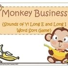 This engaging product includes 24 word cards that students will sort according to the sound the y makes - Long E or Long I.   This product also inc...