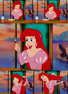 Disney Movies 30 Day Challenge Day 10: Best Hair. Ariel! and the dinglehopper, of course!