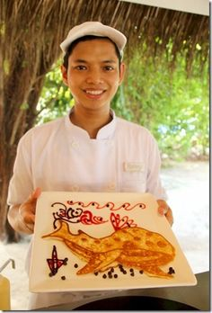 Best of the Maldives: Pancake Characters – LUX Maldives Pancake Art, Maldives Resort, Pancakes, Shark, Pancake, Sharks, Crepes