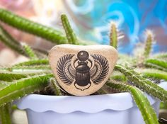 Dung-Beetle Scarab Stone Tattoo Eco friendly Gift от KDspaceGifts