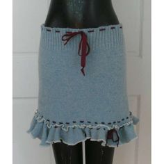 Recycled Sweater, Really Nice Skirt! ... a little more length, but I love the lettuce hem!