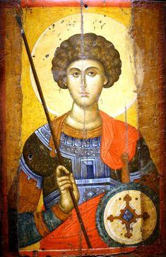 Георгий Победоносец   . Византия. XIV век. Греция. Афины. Византийский и христианский музейПравославная Жизнь