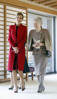 Queen Letizia and Empress Michiko during Spain Royal Official Visit to Japan, April 2017