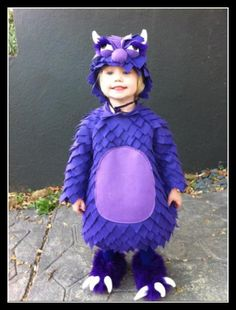 Homemade Purple Monster Costume