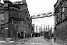 The German Gymnasium and gas holders, Kings Cross, Camden London, Camden Town, Old London, London History, Local History, Station To Station, London Photos, Best Cities, Tower Bridge