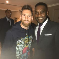 FOW 24 NEWS: Two Legends! Lionel Messi And JJ Okocha Pictured T...