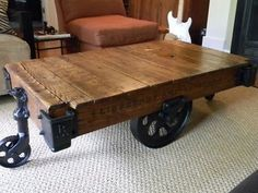 Reproduction Antique Warehouse Cart Tutorial He also has another