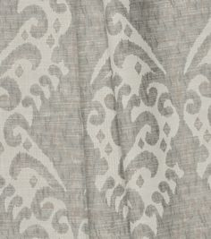 Jaclyn Smith Upholstery Fabric 54\u0027\u0027-Platinum Ikat,