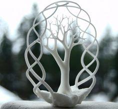 Earth Tree Ornament $23 from shapeways.com