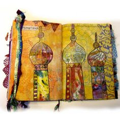 Ro Bruhn Art: Hand made journal and disintegration project