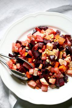 Marinated Saffron & Orange Root Vegetables