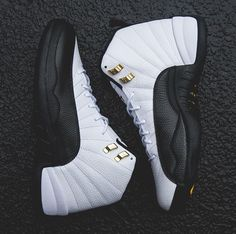 Another look at the Air Jordan 12 TAXI releasing in less than two weeks. Nike Air Shoes, Nike Free Shoes, Nike Air Jordans, Nike Shoes Outlet, Running Shoes Nike, Jordan Shoes Girls, Air Jordan Shoes, Girls Shoes, Jordan 12s