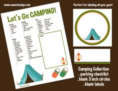 Sweet Mady: {printable} let's go camping