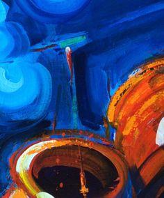 A portion of Night Lights, my #Chinese lanterns. For sale colorcatstudios101.etsy.com #LanternsBuzz #colorcatstudios