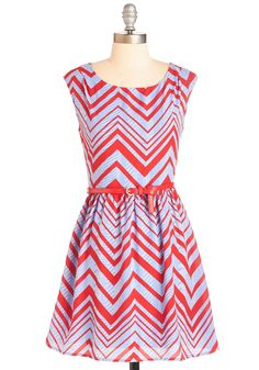 Mix Independent Dress. What is this feeling taking over as you twirl in this red, white, and blue frock? #multi #modcloth