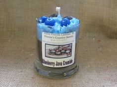Blueberry Java Crumble  Gourmet Scented De-Light Candle