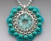 Bloom Necklace in Turquoise and Aqua