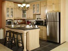 Natural Maple L-Shape Kitchen  Visit us at : http://actioncabinets.com