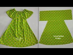 2020 Very Easy Baby Frock Design Cutting And Stitching Easy way - YouTube Baby Frock Pattern, Frock Patterns, Baby Girl Dress Patterns, Baby Clothes Patterns, Dress Sewing Patterns, Girls Frock Design, Baby Dress Design, Baby Girl Party Dresses, Dresses Kids Girl