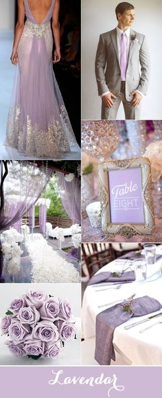 elegant lavendar and silver wedding inspiration