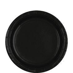 Jet Black 9'' Paper Plates | 20ct