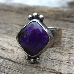Royal Purple Sugilite Sterling Silver Ring