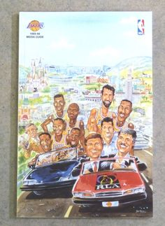 LOS ANGELES LAKERS NBA BASKETBALL MEDIA GUIDE - 1993 1994 - NEAR MINT