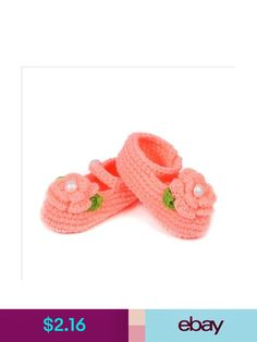 Soft Knitted Woolen Pretty Pink with White Flower Detailing Baby Infant Girl Sock Flip Flop Sandals Ideal for a 3-12 Month Old Baby First Walking Shoes Handmade