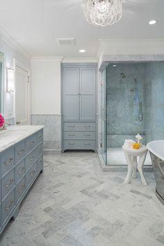 Gray Cabinet Paint Color. Benjamin Moore Marina Gray 1599. Bathroom gray cabinet paint color Benjamin Moore Marina Gray 1599. #BenjaminMooreMarinaGray #BenjaminMoore1599.